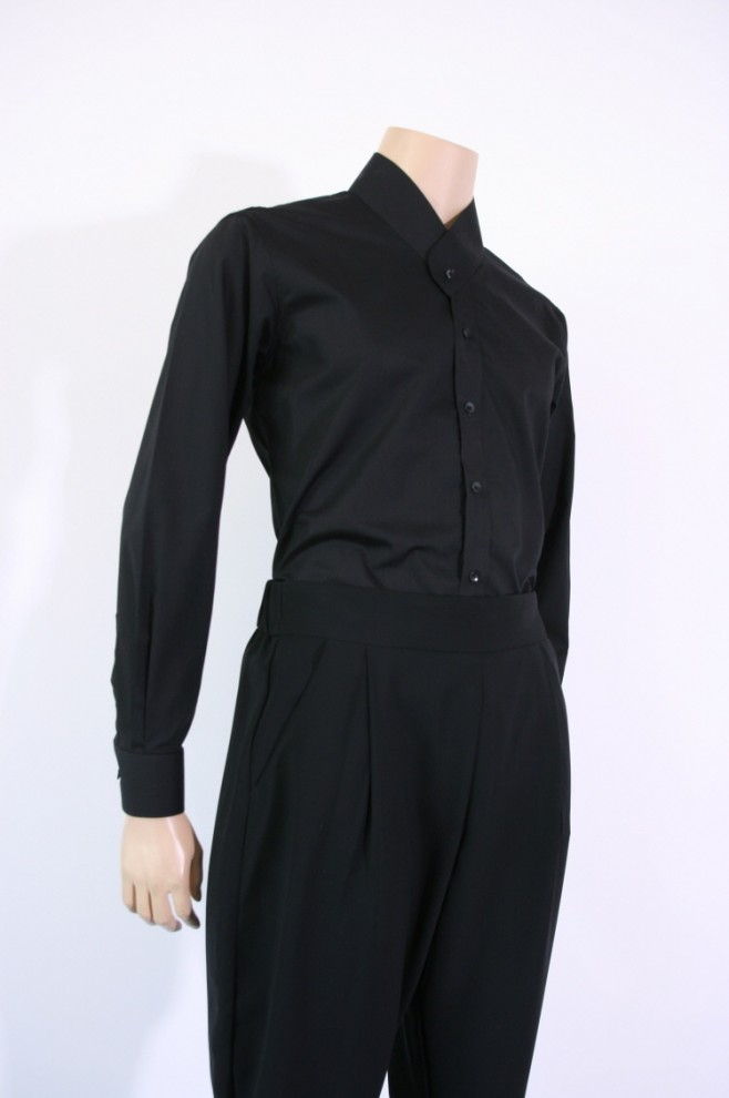 Black Cotton Git-Shirt