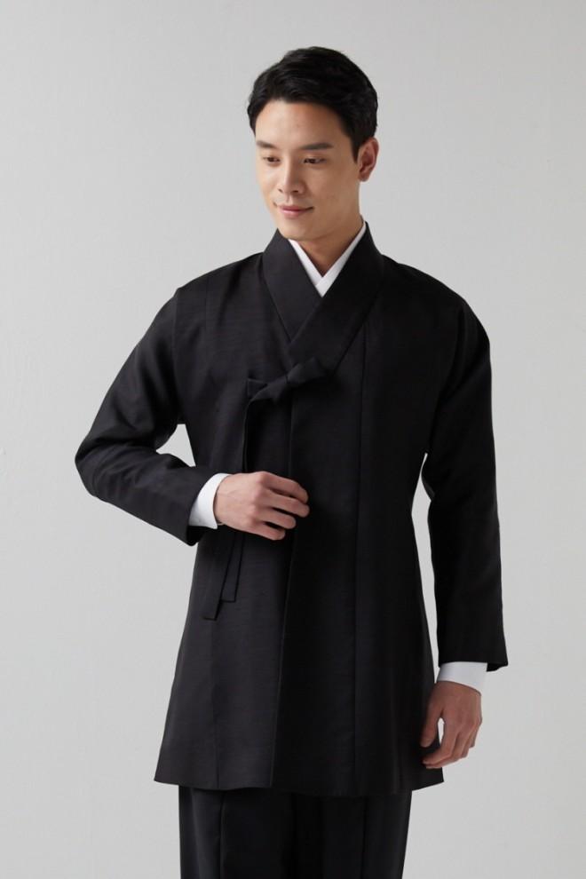 Silk Black Korean Tie Jacket