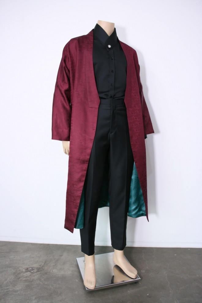 Silk Unmundan Burgundy Robe