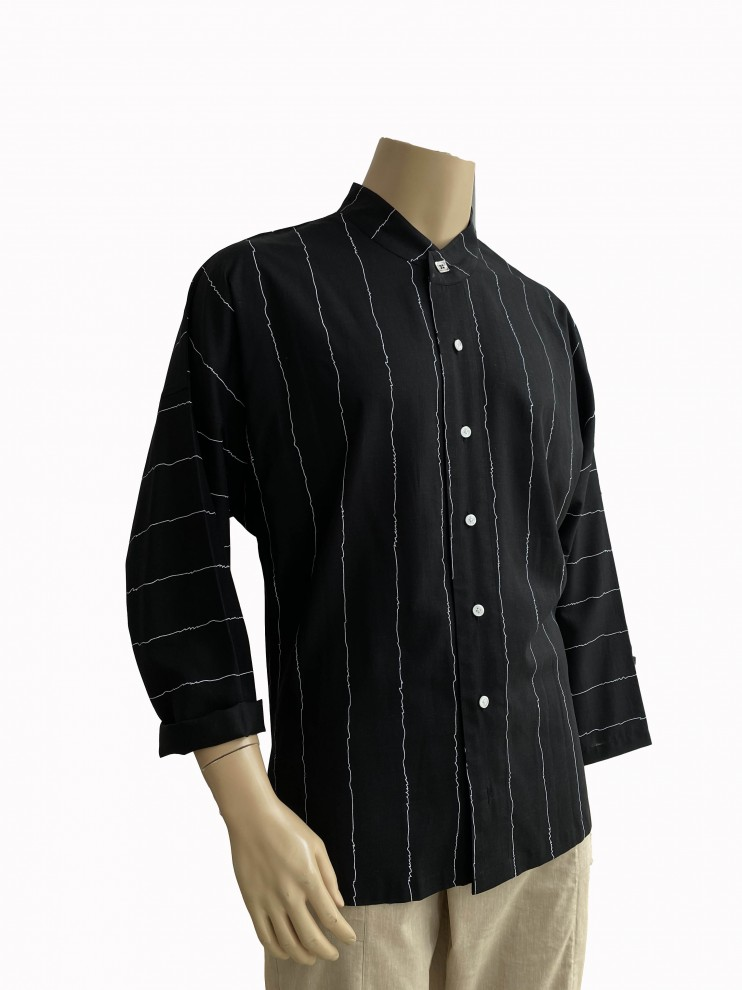 White Line Black Bloom Shirt