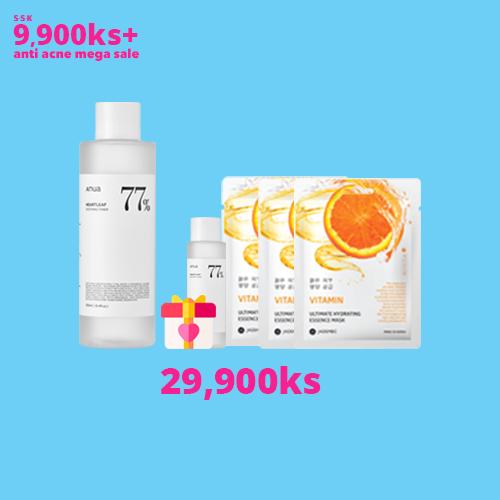 Heartleaf 77% Soothing Toner + 40ml Mini + (Gift) JKOSMEC Sheet Masks (3)