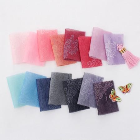 韩服韩服织物布)累积奖金织物 - 织物牡丹(15种)