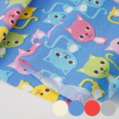 棉混纺面料颜色猫 4 种类型