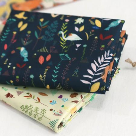 袋织物袋纸快乐土地防水织物聚宽花花卉北欧2类型