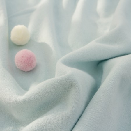 宽毛圈毛巾棉花糖蓝色