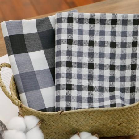 棉混纺格纹灰色 2 种