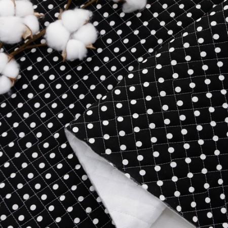 棉混纺绗缝纸别致圆点 5054