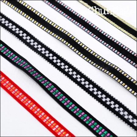 天鹅绒丝带绑带天鹅绒针织带15mm(6种)