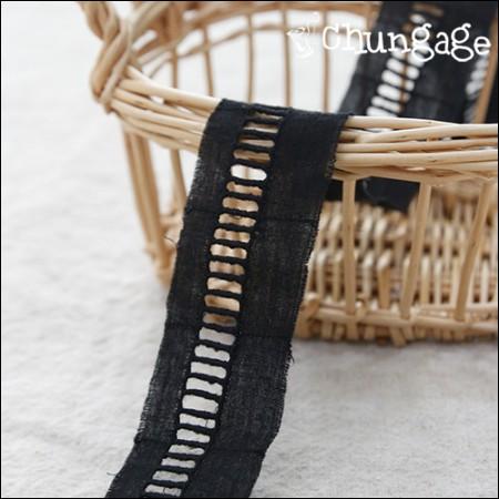 棉花蕾丝棉046连接胶带小黒
