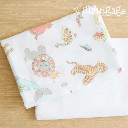 2种手帕剪纸动物仙境