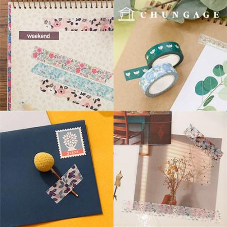 设计纸美纹纸胶带花系列31种