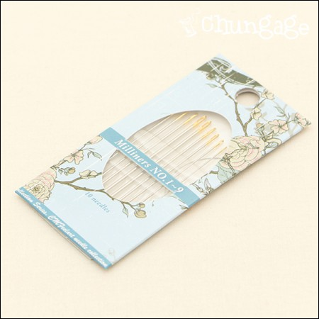 刺绣针套装 Millinner Needle No. 1~9 for Blion Stitch 套装