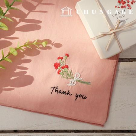 法国刺绣包装花DIY套件谢谢手帕CH-513513可以在家做的爱