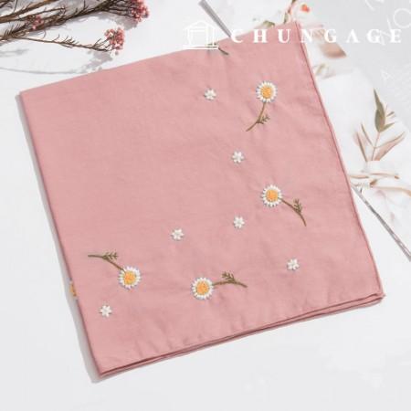法国刺绣包装花DIY套装雏菊手帕CH-513505可以在家做的爱