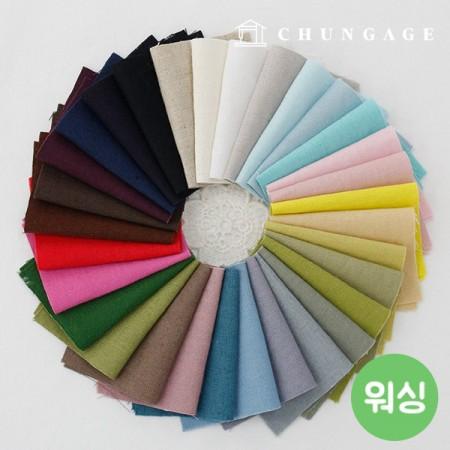 宽水洗亚麻面料亚麻亚麻面料11号码34种法式刺绣绣花织物制作表面
