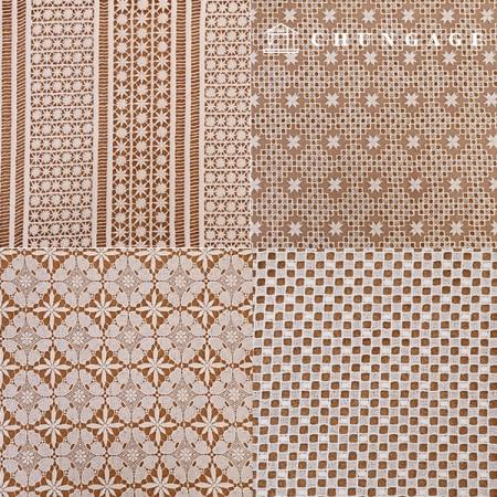 7种棉质蕾丝刺绣面料[G2]