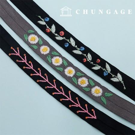 法国刺绣包装花DIY套装橡皮筋丝带串A CH-512528爱家