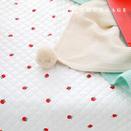 棉20横织面料缝面料早安苹果