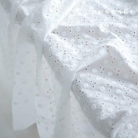 棉꽃刺绣面料蒲公英花后眼