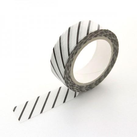 设计纸美纹纸胶带对角线条纹黑TA079