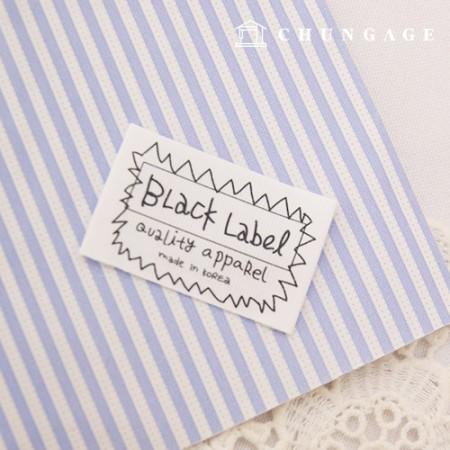 双面标签,黑色标签,白色,5件KL032