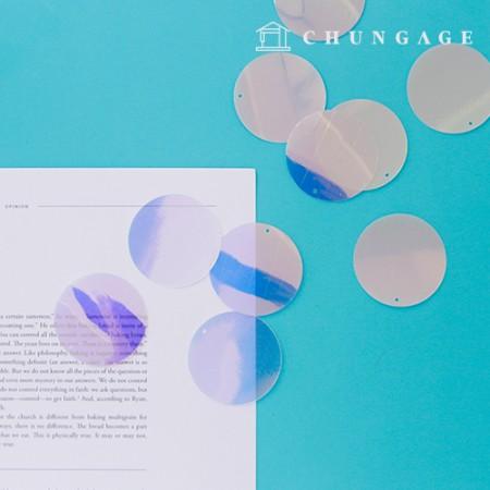 Suncatcher制作珍珠母移动dreamcatcher全息图闪耀水晶天然五色40mm 10片