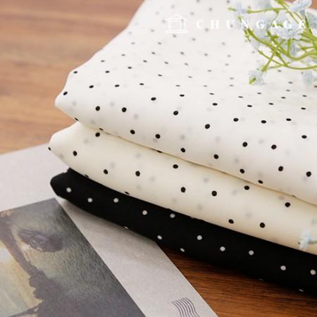 雪纺面料,涤纶布料,3种小圆点
