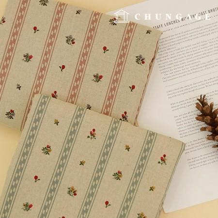 亚麻织物亚麻棉两种大壁花