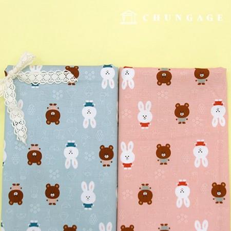 20种棉布,可爱的动物2种