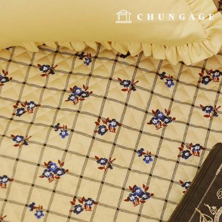 20棉平纹织物Qui缝的织物复古小鸟