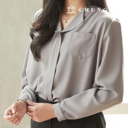 服装款式女士V字领女衬衫西装款式[P1450]
