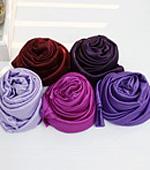 弹力蚕丝5种紫红色