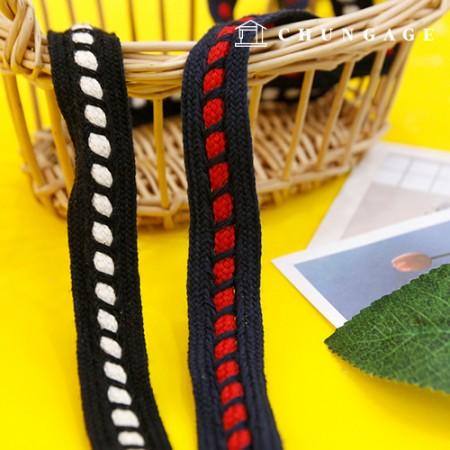 缝织带绳斜梯绣带20mm 2麻2种