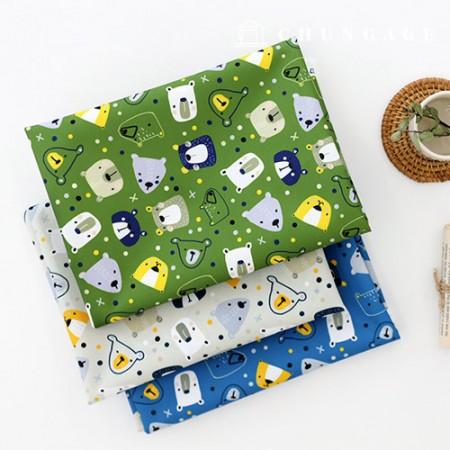 袋织物袋纸熊Pop Pop防水布Poly Wide Animal Bear 069