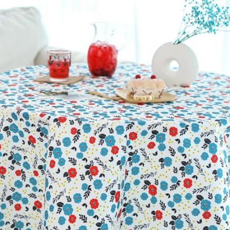 袋织物袋纸玫瑰色花青绿防水布聚宽花花朵图案075