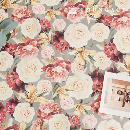 袋织物袋Lamella防水布聚宽花图案花049