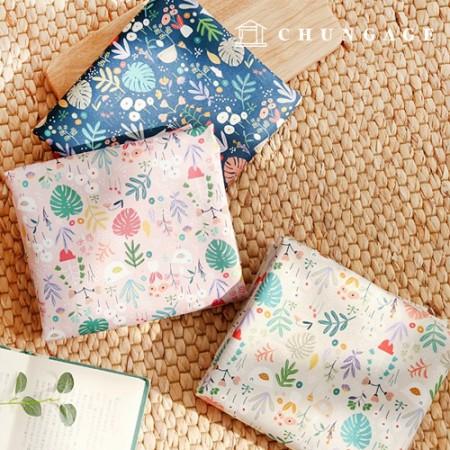 袋装面料,袋装纸,小鸟流,防水布,聚脂,大朵花卉,3种