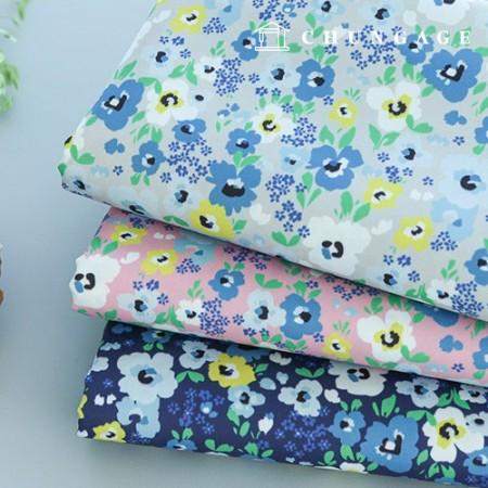 袋织物袋纸马尔代夫淋浴防水布聚宽花图案花3种