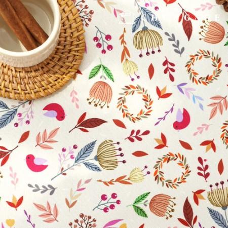 袋装袋装纸棕叶防水布聚宽花花朵图案080