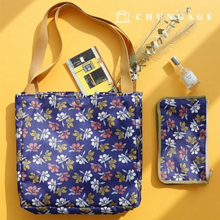 袋布袋纸Del Luna深蓝色防水布聚宽花型花093
