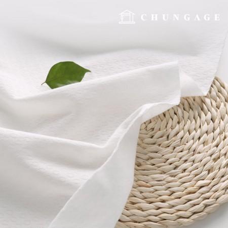有机面料环保面料特殊棉提花大丸纯白