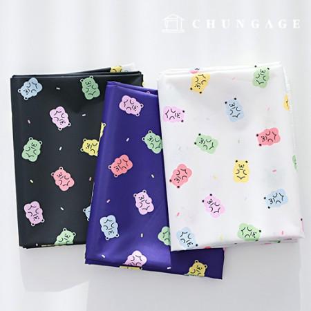 防水布,果冻熊,聚脂防水布,3种熊
