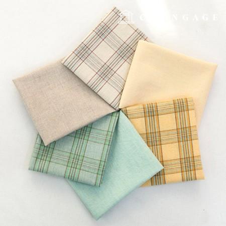 棉织物忧郁染色的水洗格子布平纹布料6种类型的温迪