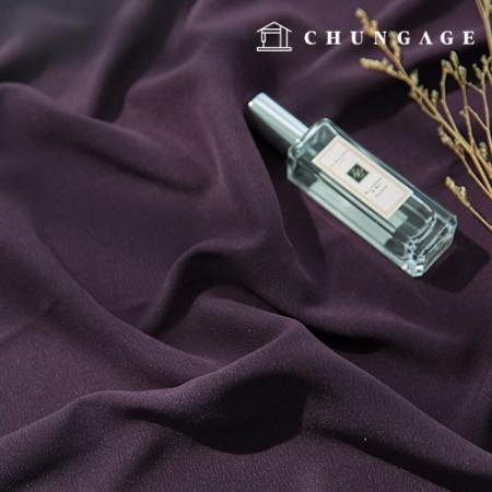 涤纶斜纹纯色宽幅面料暗紫色