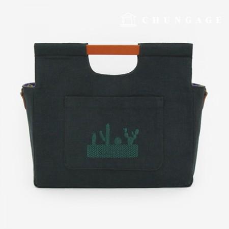 图案礼品袋提手提手木质木质30 cm咖啡色