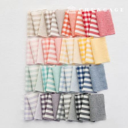 格子布棉混色奥伯尔染色水洗广泛复古/仿旧格子布48种条纹