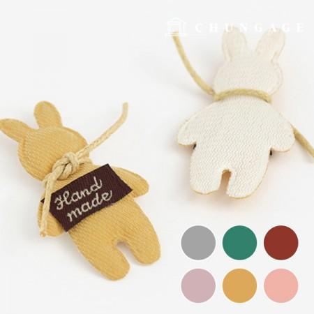 立体毛绒立体兔兔手工制作三维立体胸针饰品6种