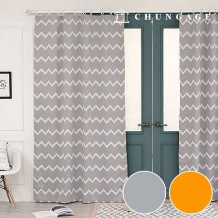 3中型遮光布现代之字形遮光布窗帘布窗帘布2种窗帘布
