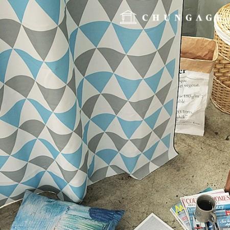 3中号遮光布北欧三角遮光布窗帘布窗帘布窗帘布006