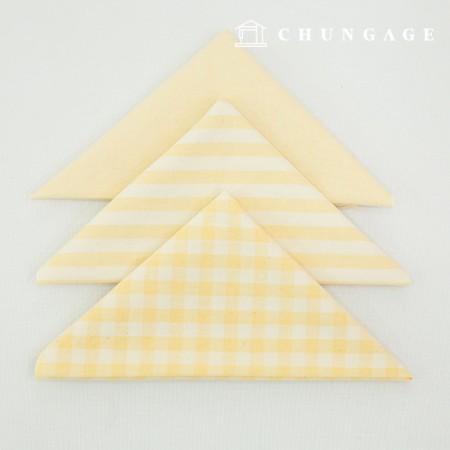 布包棉布水洗格子条纹梅兰系列1/8麻3包浅黄色